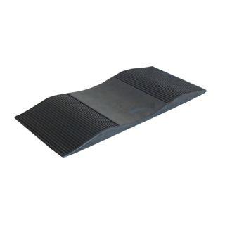 Parkrampe, Hohlgummiauflage für PKW gegen Standplatten 570 x 260 x 17/32 mm