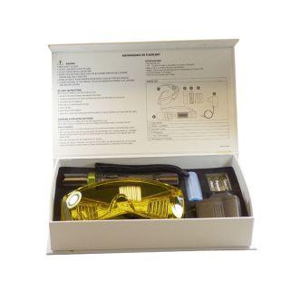 UV Lecksuchlampe Set 60W wiederaufladbar incl. Steckernetzteil und Schutzbrille