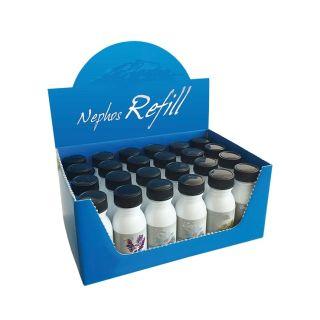 """Box mit 24x 30 ml Nachfüllflasche für Desinfektionsgerät """"Nephos"""" - gemischt"""
