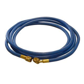 ND-Befüllschlauch, 2 mtr. für R134a-Geräte F 1/4 SAE  x F 1/4 SAE 45°, blau